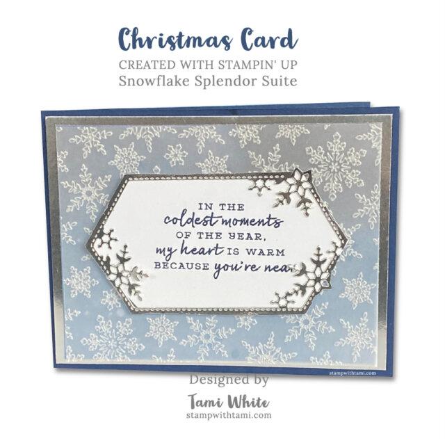 Snowflake Splendor Holiday Card
