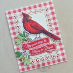 CARD: May Your Days Be Merry & Bright Christmas Cardinal Card