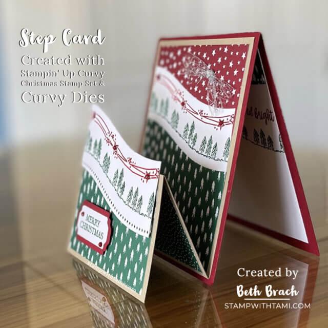Curvy Christmas Step Card