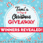 Winners of my 10 Days of Christmas Giveaways Revealed