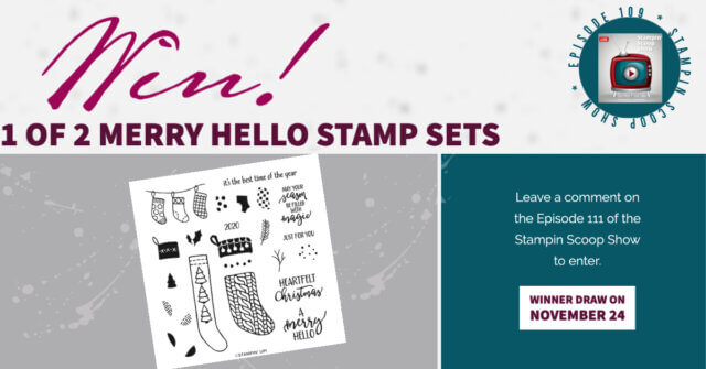 Win 1 or 2 Merry Hello Stamps
