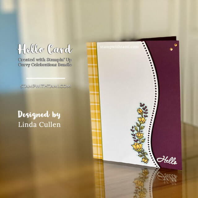 Hello Card With Curvy Celebrations