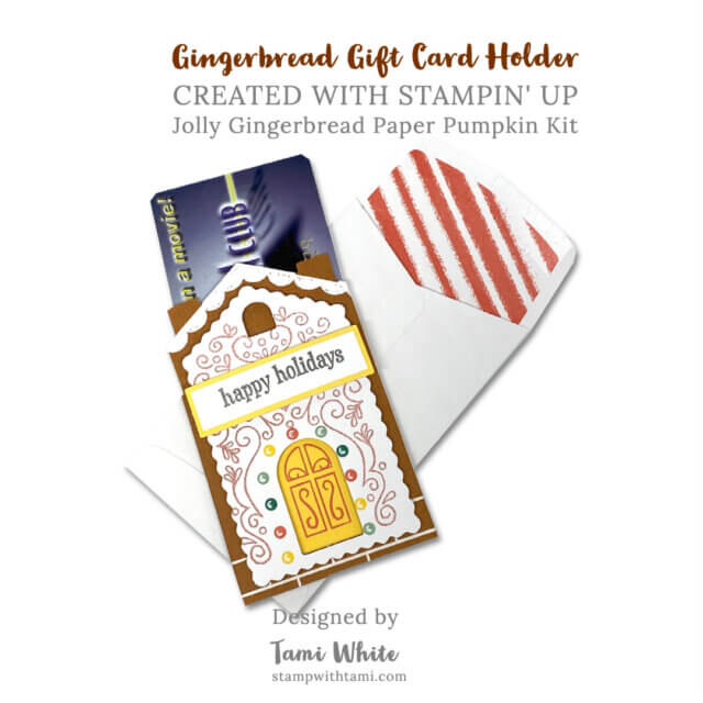 gingerbread card holder