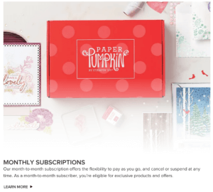 Monthly Paper Kits