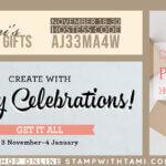 SPECIALS: Tami's Ordering Gift Tutorials for November 18-30 – Hostess Code AJ33MA4W