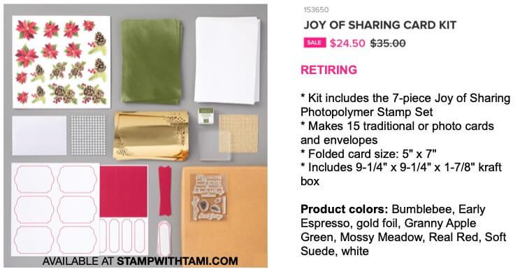 Joy of Sharing Card Kit