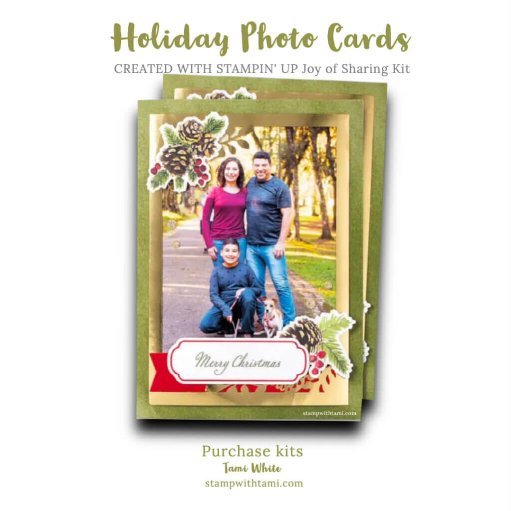 Stampin Up Holiday Cards