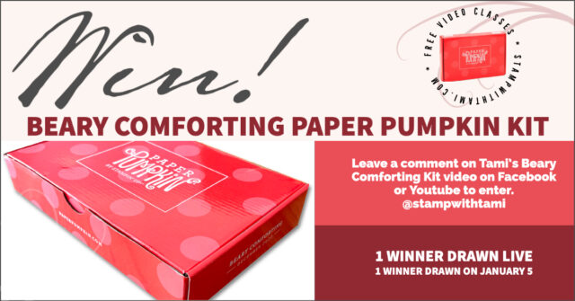win beary comforting paper pumpkin kit