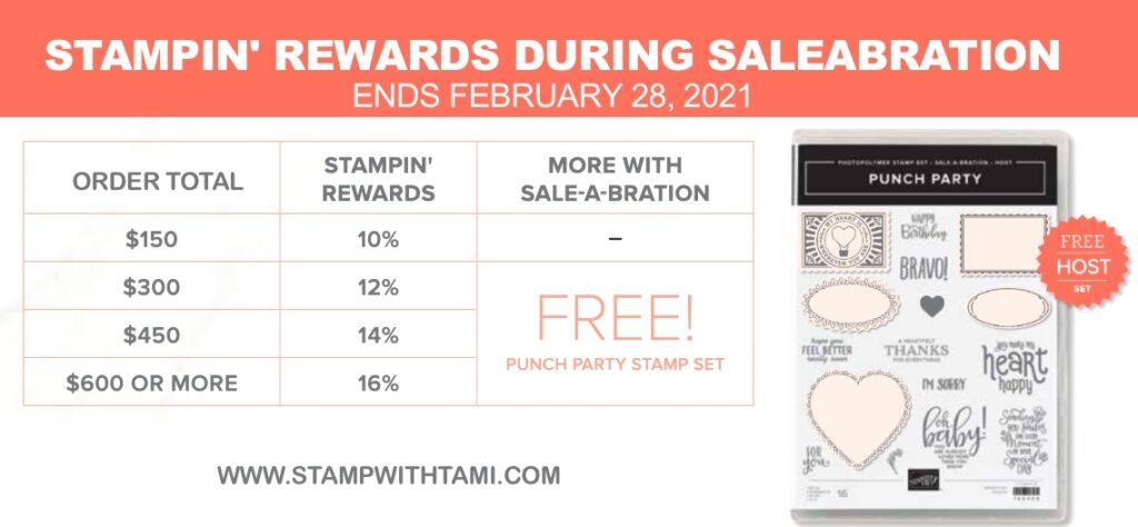 Stampin Up Rewards