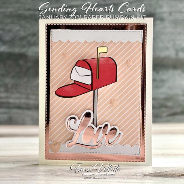 Sending Hearts Card