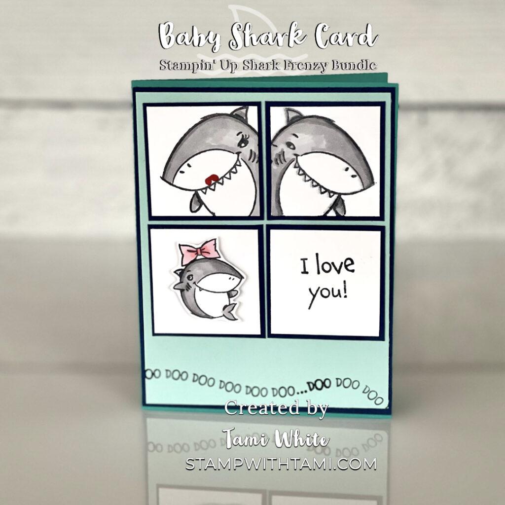 Baby Shark Family Photo Cards