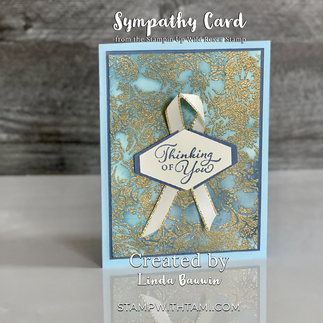 wild roses cancer ribbon wow card