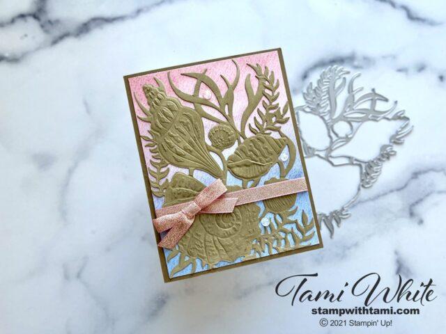 Textured Seashells Card Tutorial
