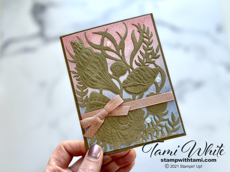Stampin Up Custom Shimmery Cards