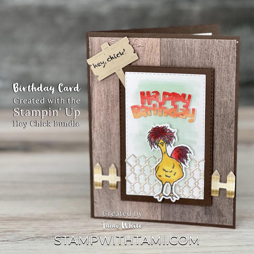 Hey Chick Birthday Card