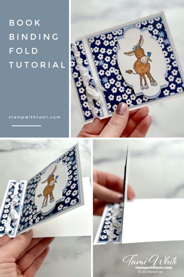 Darling Donkey Book Binding Card