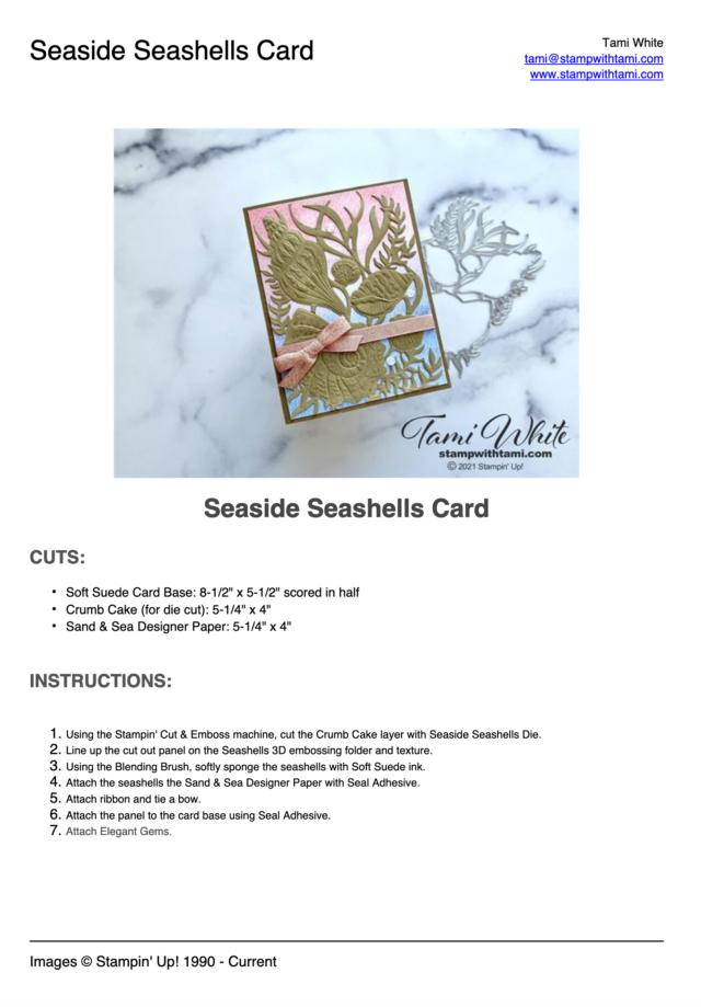 Textured Seashells Card