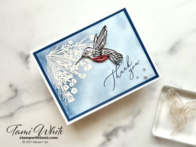 hummingbird card tutorial