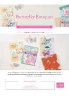 Stampin Up Butterfly Brilliance collection flyer