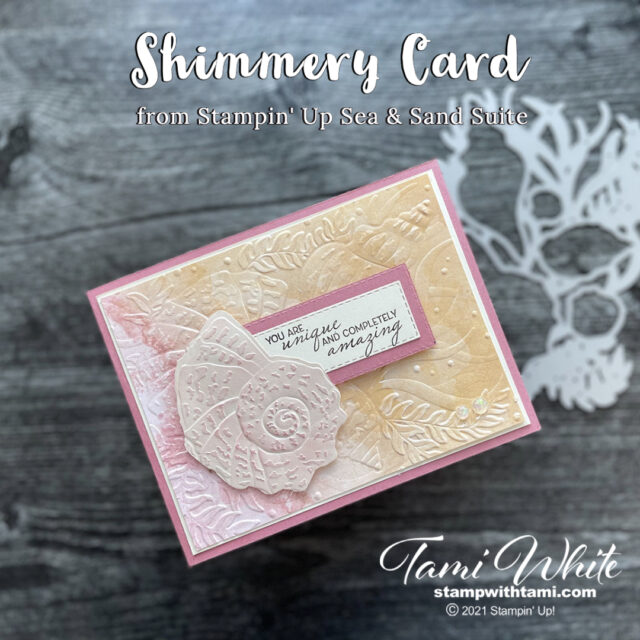Shimmery Card
