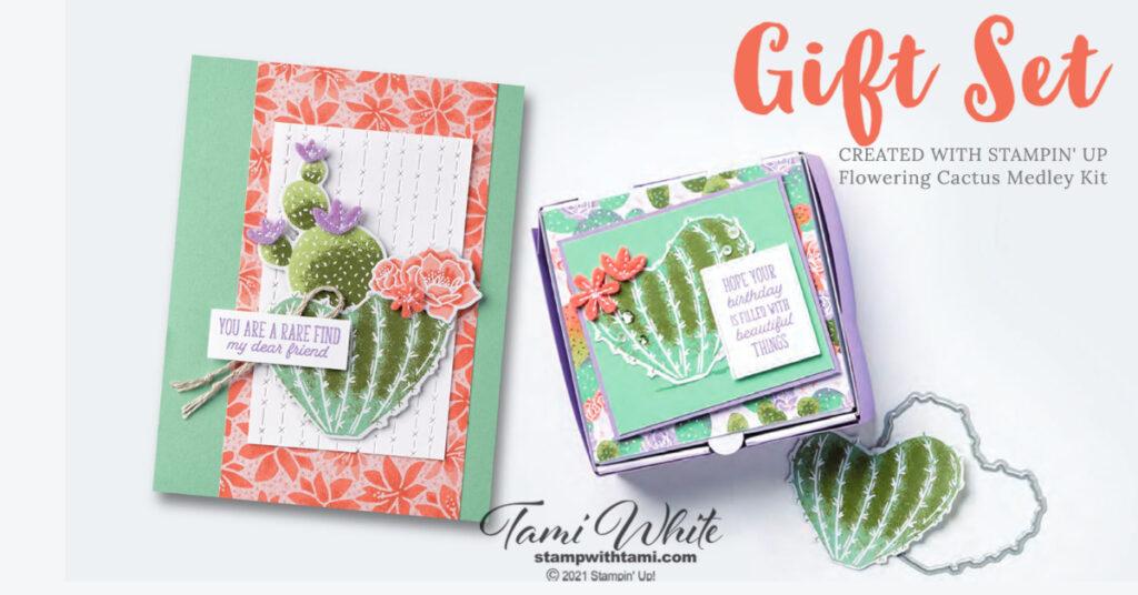 Flowering Cactus Gift Set Tutorial