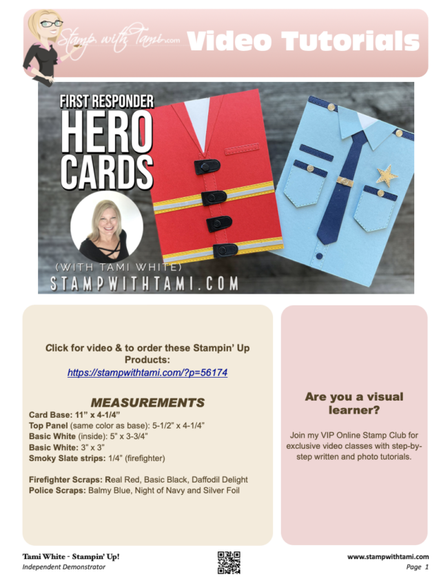 First Responder Hero Card pdf
