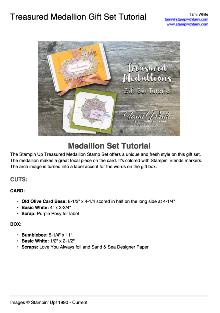 Treasured Medallion Gift Set pdf