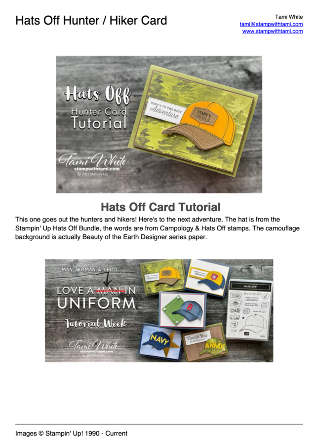 Hats Off Hunter Card pdf