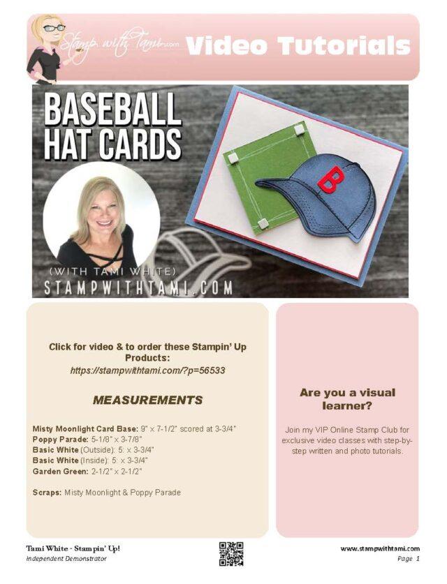 Baseball Hat Cards pdf
