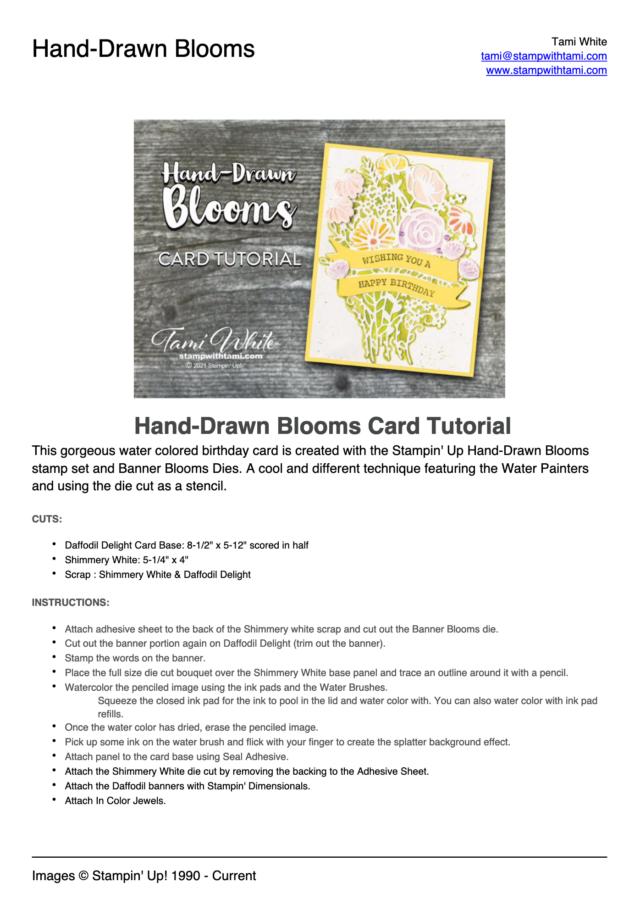 Hand-Drawn Blooms Card Tutorial pdf