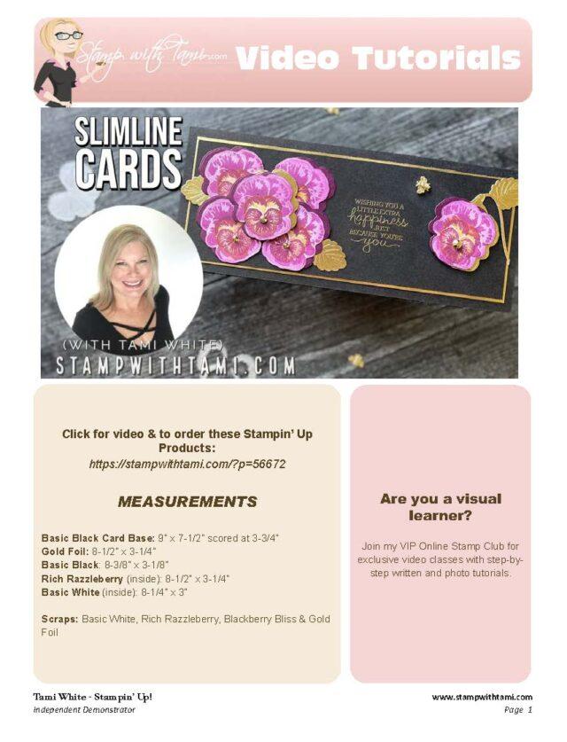 Pansy Petal Slimline Card pdf