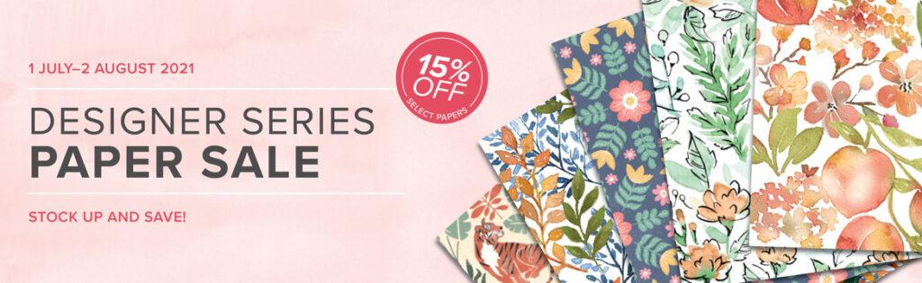 15% OFF Designer Series Paper