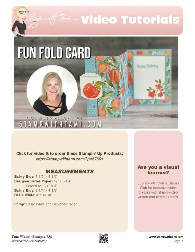 You're A Peach Fun Fold Card pdf