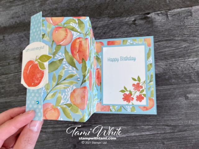 You're A Peach Fun Fold Card photos