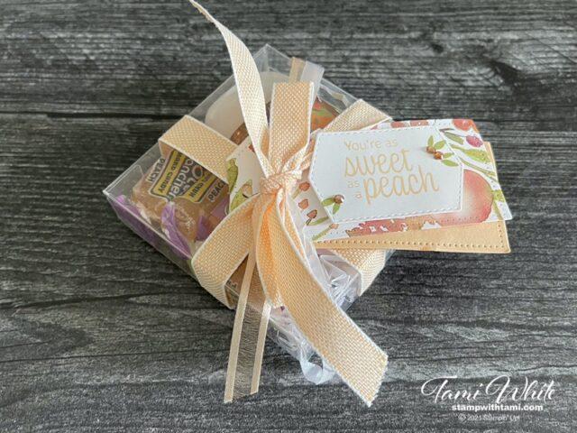 You're a Peach Gift Box Tutorial Photos