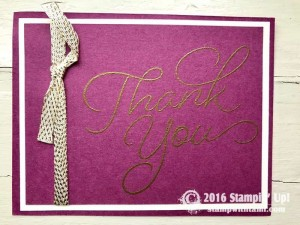 Stampin Up Sale-a-bration So Very Much  stamp set