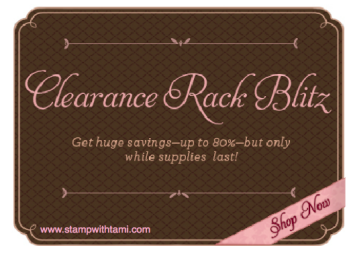 Stampin' Clearance Rack